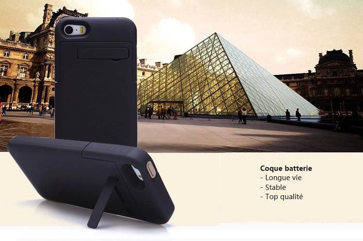 iphone5 5s coque batterie int gr e chargement externe digiac. Black Bedroom Furniture Sets. Home Design Ideas