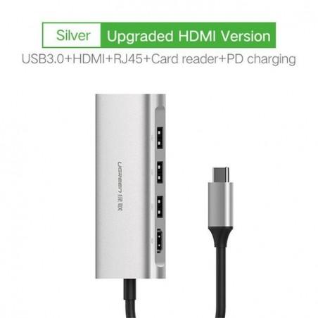 Ugreen USB Lecteur de Carte HUB Adaptateur type C