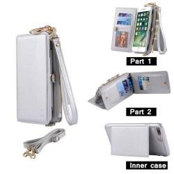 iPhone 6(S)plus - Porte Monnaie pochette similicuir multifonctionnel