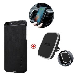 iPhone 7 Plus - Kit nillkin chargeur QI sans fil induction support voiture magnétique
