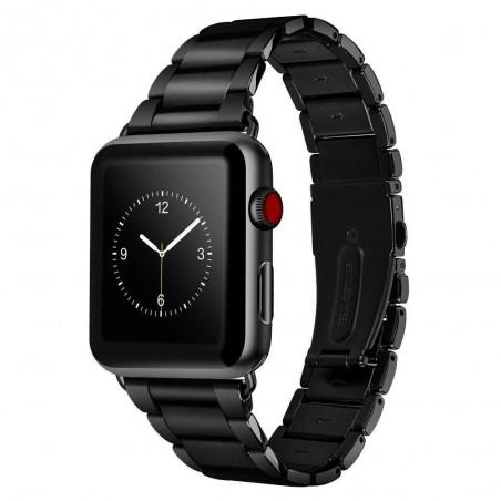 HOCO Bracelet de remplacement en acier inoxydable pour Apple Watch séries 3, 2 et 1 - Noir 42mm
