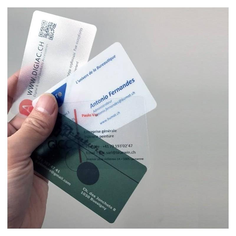 Cartes visite plastifié