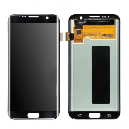 Ecran LCD Complet Vitre Tactile Pour Samsung Galaxy S7 Edge - schwarz