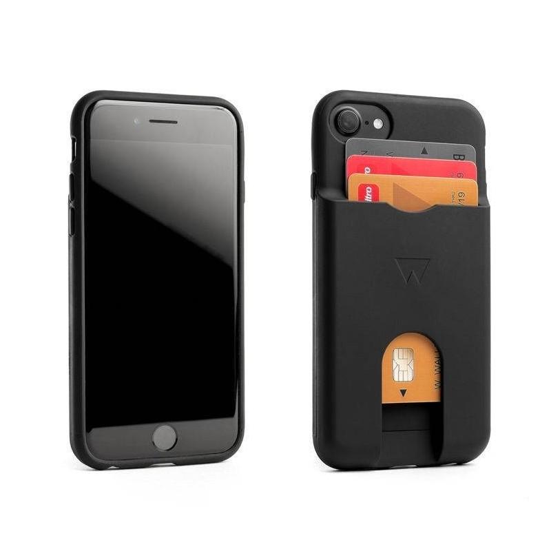 iphone 8/7/6 - WALTER PHONE WALLET Coque portefeuille noire