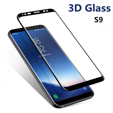 Galaxy S9 Plus - Protection écran plein écran 3D en verre trempé