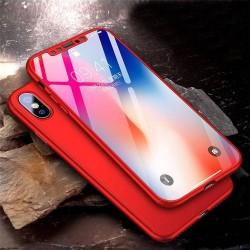 iphone X - Coque abs pc Noire couverture complète