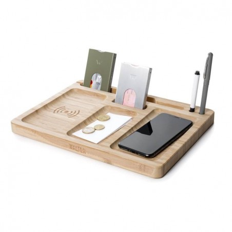 WALTER WALLET Bamboo Dock avec double chargeur sans fil