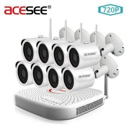 Kit de 4 caméras nocturne sans fil avec Enregistreur 1To
