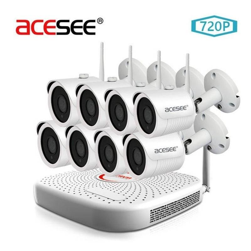 Kit de 4 caméras nocturne sans fil avec Enregistreur 1000gb