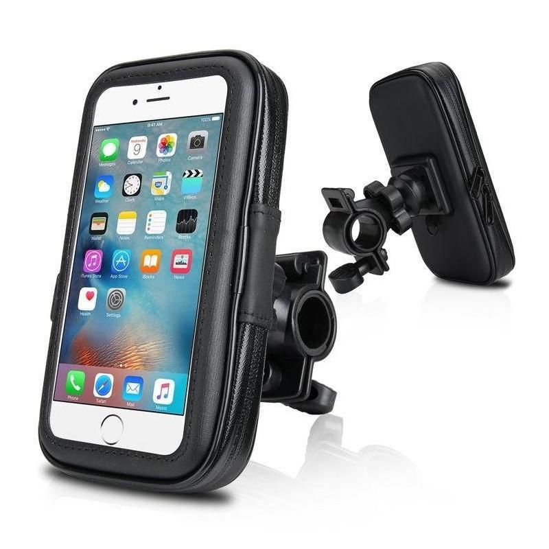 Galaxy S7 edge, iPhone 8/7/6plus - housse étanche guidon moto