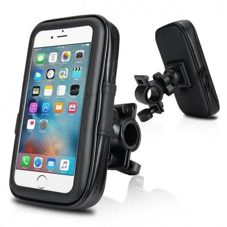 Galaxy S7 edge, iPhone 8/7/6plus - housse étanche guidon moto Taille L