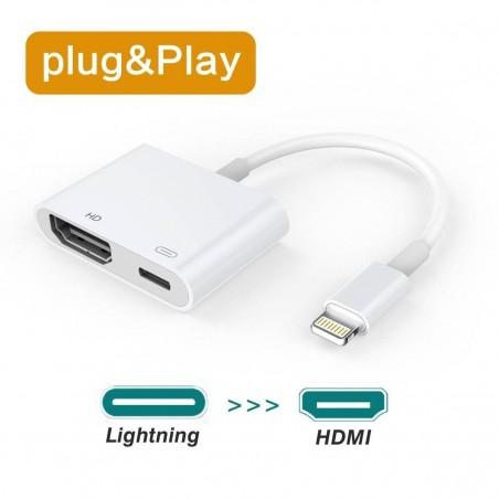 iPhone X/8/7/6/5 Lightning to HDMI Adaptateur Câble