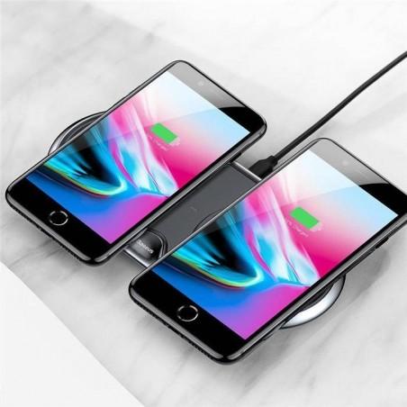 Baseus 10W Dual Qi sans fil rapide en alliage de zinc base de chargeur pour iPhone X 8 Plus S8 S9 Mix 2s - Noir