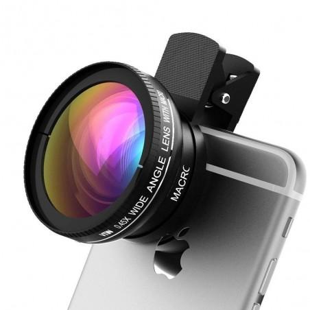 Objectifs téléphone HD 2en1 0.45XSuper Grand Angle+10X Macro