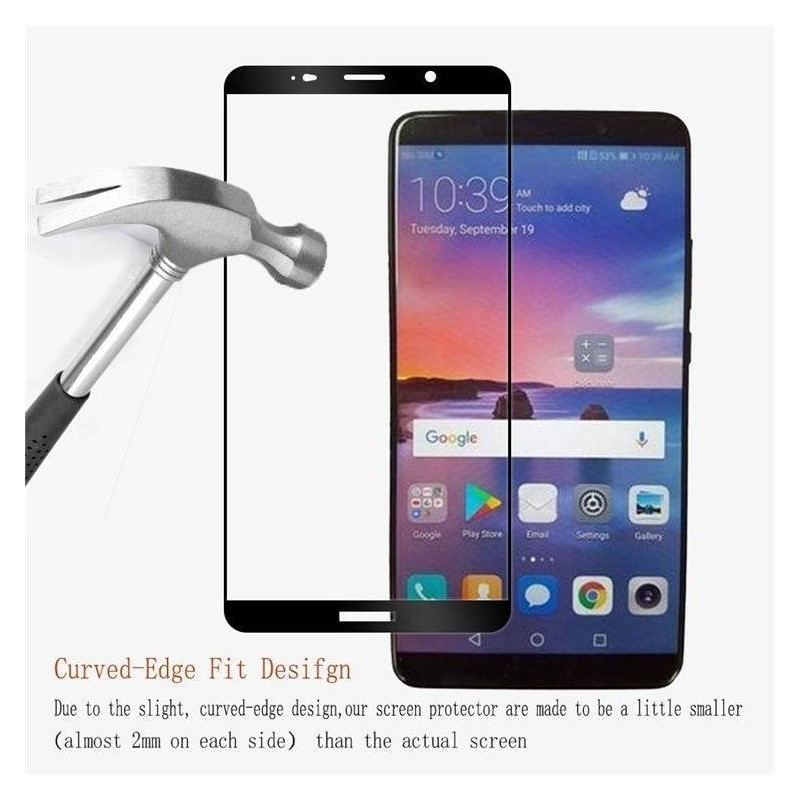 Huawei Mate 10 - Protection écran verre trempé fullcover