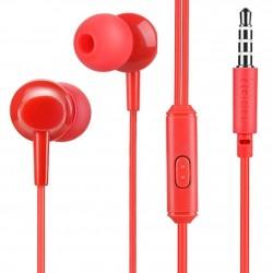 Écouteurs Intra-Auriculaires Bass Casque stéréo avec Microphone Rouge