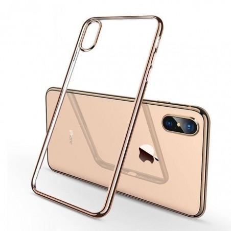 Coque iPhone XS (max) Transparente Gel - dorée