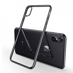 Coque iPhone Xs (max)/Xr Transparente Gel - Noir