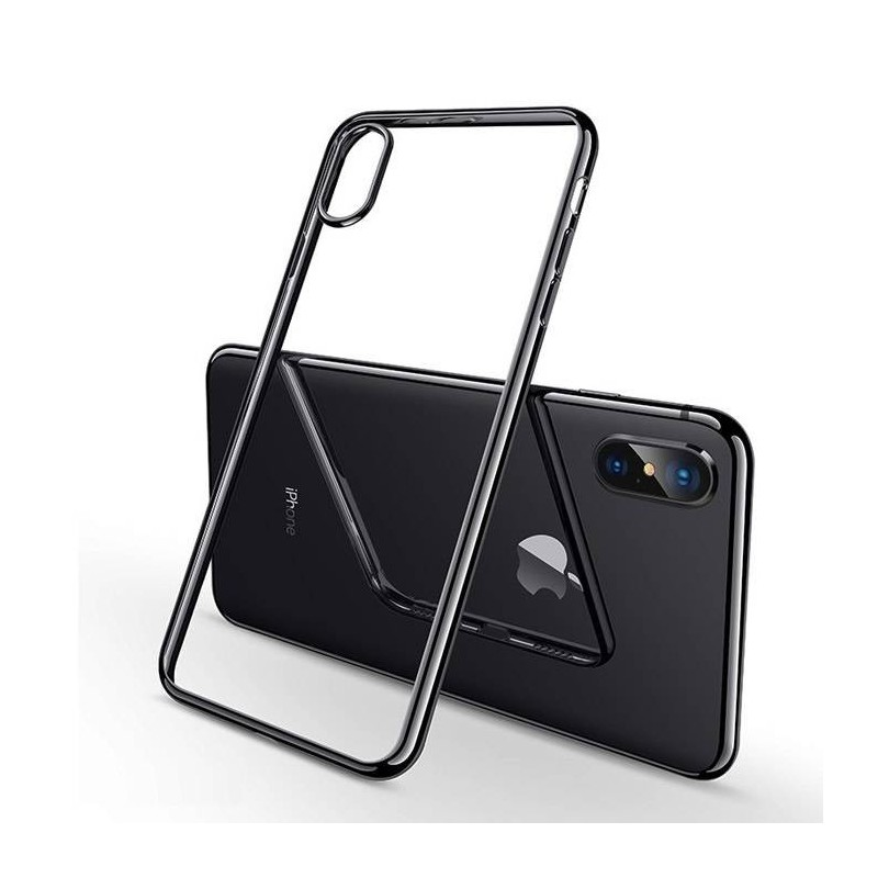 Coque iPhone XS (max) Transparente Gel - noir
