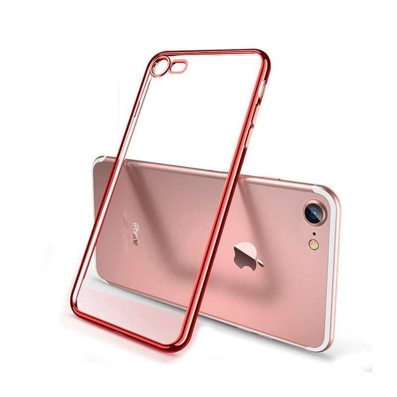 Coque iPhone XS (max)/Xr  Transparente Gel - rot