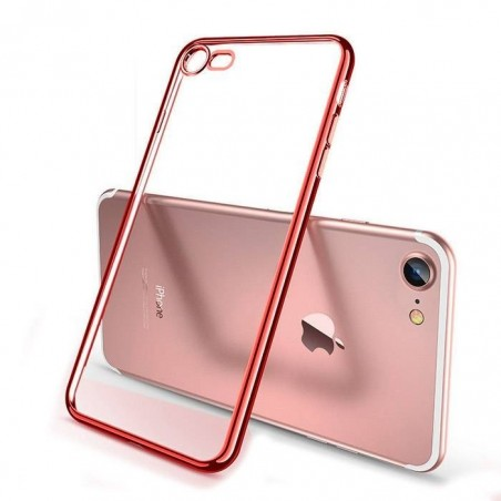 Coque iPhone Xs (max)/Xr  Transparente Gel rouge