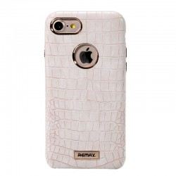 iPhone 8/7 - Coque crocodile simili cuir - Beige