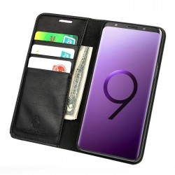 Galaxy Note 9 - Etui portefeuille en Cuir lisse
