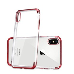 iPhone XR-Coque placage rouge 3 parts