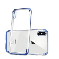 iPhone XR-Coque placage Bleue 3 parts