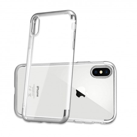 iPhone XR-Coque placage Blue 3 parts