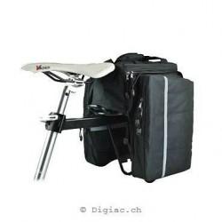 Double sacoche imperméable extensible pour Vélo