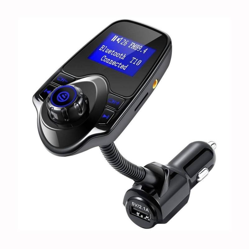 Bluetooth ver.T10 Transmetteur FM Sans fil pour voiture