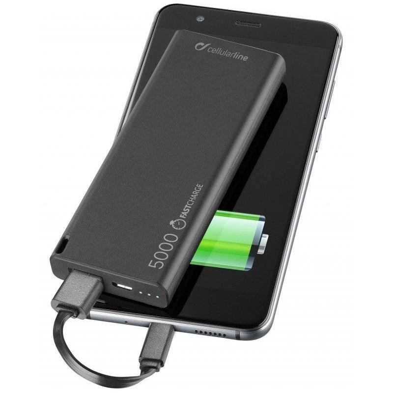 FreePower Slim - Chargeur de batterie - 5000 mAh - Noir