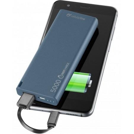 FreePower Slim - Chargeur de batterie - 5000 mAh - Bleu