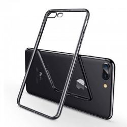 Coque iPhone XS (max)  Transparente Gel - noir