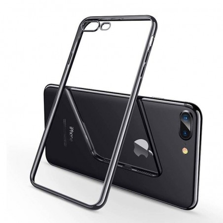 iPhone 8plus/7plus - Coque Transparente Gel - Noir