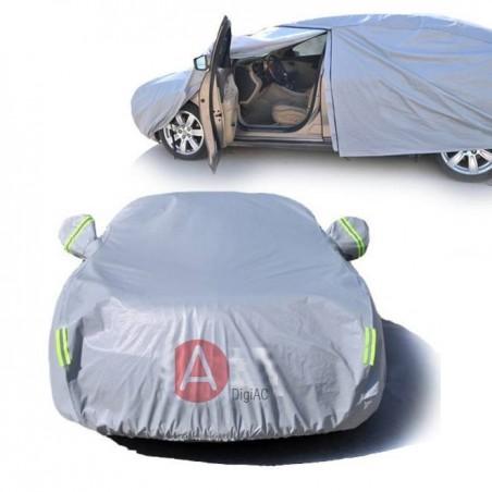 Bâche YXL grise épaisse voiture coté ouvrable
