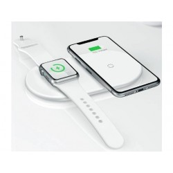 Chargeur rapide sans fil Apple Watch et iPhone 2 en 1 Baseus Dual (10W)