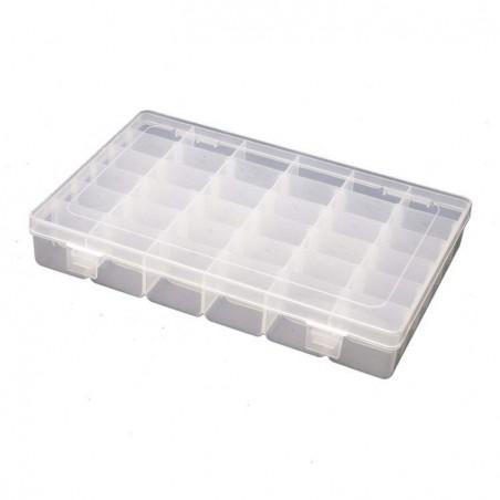 Boîte de rangement organisateur avec intercalaires amovibles 36 compartiments
