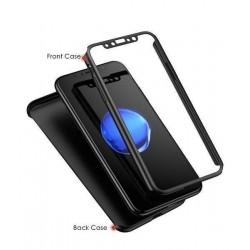 iphone Xs Max - Coque abs pc Noire couverture complète, verre offert