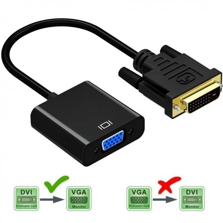DVI vers VGA Adaptateur Convertisseur