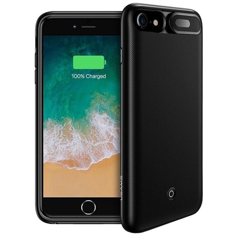 Coque Batterie USAMS pour iPhone 6/6S/7/8 3000mAh Noir