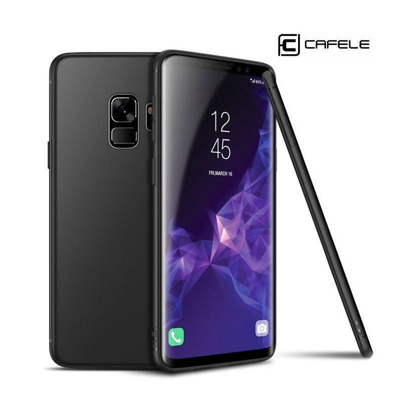 Galaxy S9/S9 plus -coque souple CAFELE mate ultra fine protection caméra-noir
