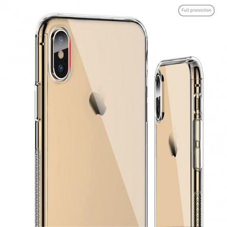 iphone XR-Coque intégrale transparente avec verre trempé offert