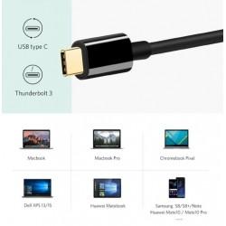 Adaptateur USB C à HDMI VGA Type C à HDMI 4K Thunderbolt avec la Sortie PD (usb C)
