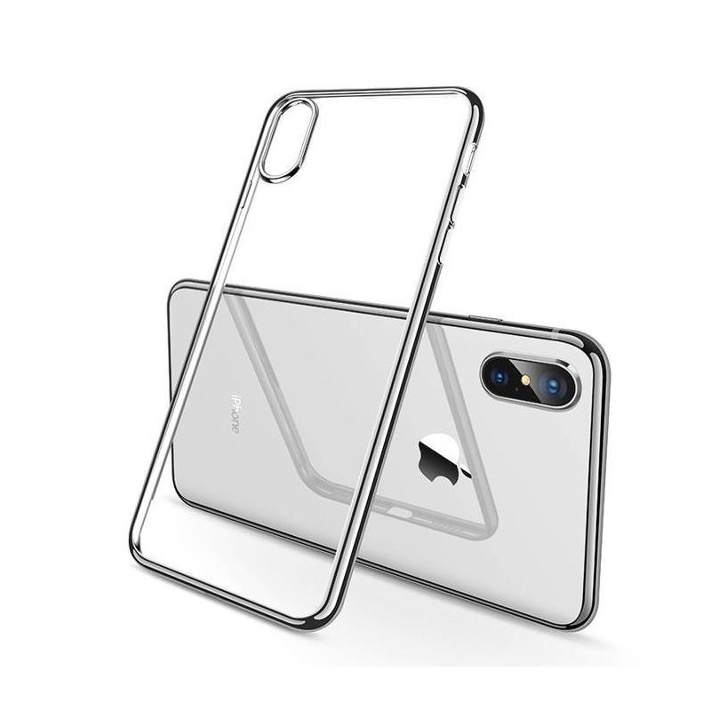 Coque iPhone XS max Transparente Gel - Grise