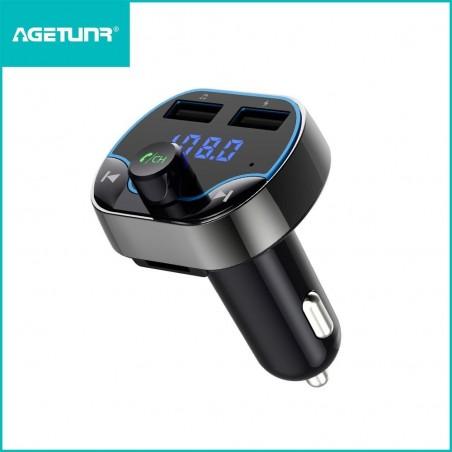 New 2019 - Transmetteur FM Bluetooth, Kit Main Libre Voiture Chargeur de Voiture