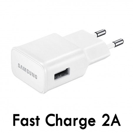 Chargeur Secteur USB 2A Samsung Adaptive Fast Charging EP-TA20EWE Blanc