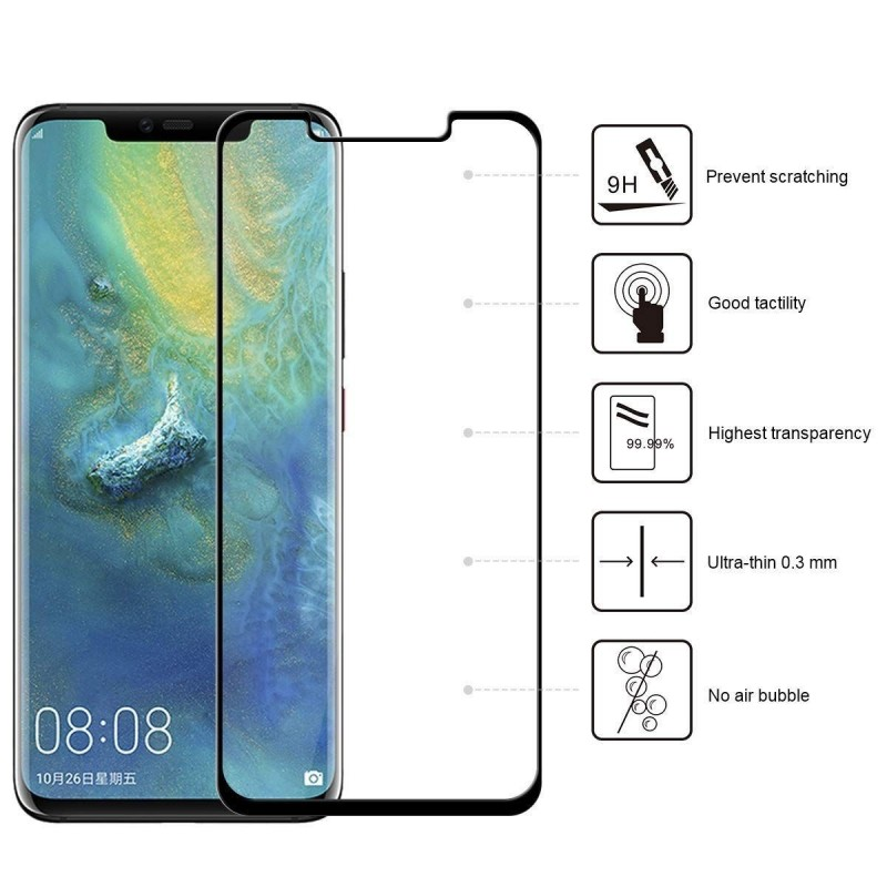 Huawei Mate 20 pro - Protecteur plein écran Verre Trempé