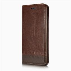 iPhone 7 - Etui portefeuille support simili cuir souple fermeture magnétique -Brun